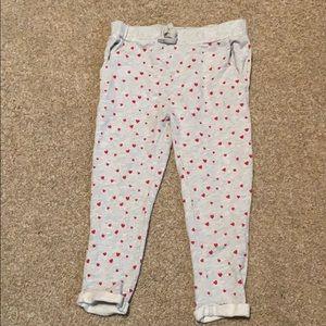GAP girls heart sweat pants size 3t